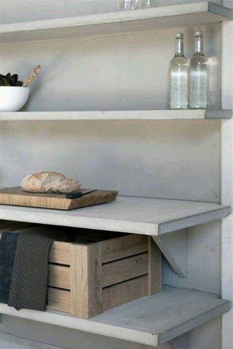concrete shelves home elements