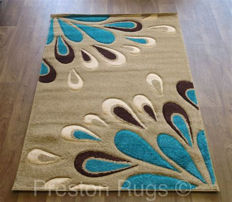 Teal And Brown Area Rugs Rug Modern Floral Beige Teal Blue Brown Small Medium Large 4 Sizes Available Ebay