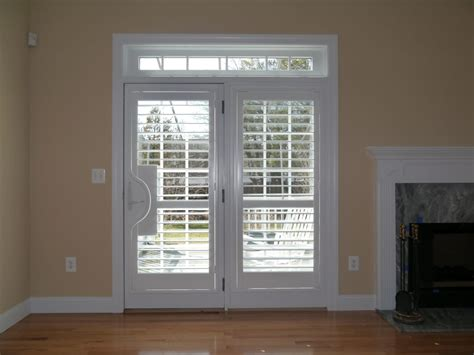 Plantation Shutters On Doors plantation shutters on doors featuring handle cut
