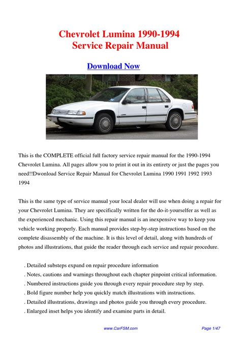 online car repair manuals free 1993 chevrolet lumina apv instrument cluster service manual free service manuals online 1994 chevrolet lumina user handbook pictures of