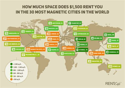 how much does an apartment cost in la how much space does 1 500 rent you in the 30 most