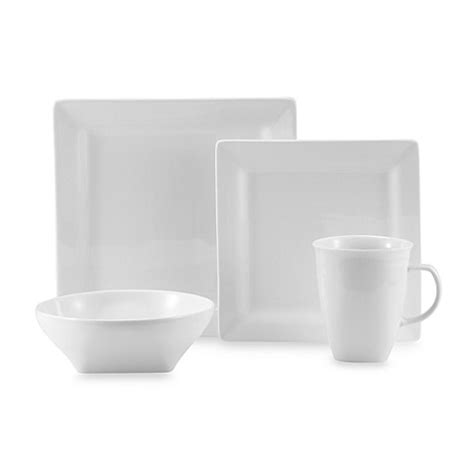 bed bath and beyond dishes oneida 174 chef s table white porcelain soft square