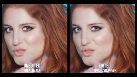 Me Me Me Original Video - meghan trainor me too photoshop vs original version