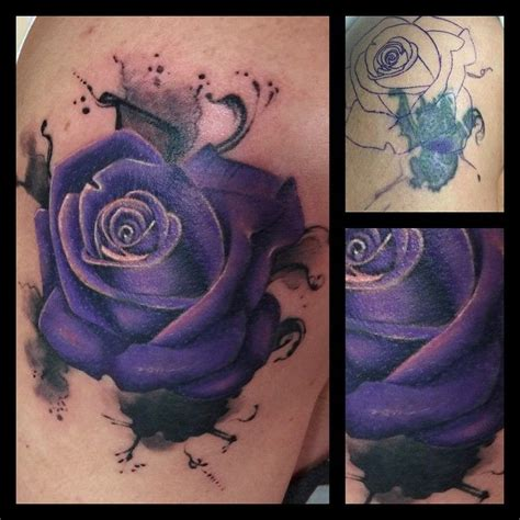 rose tattoo cover up ideas did this inky cover up today goodbye
