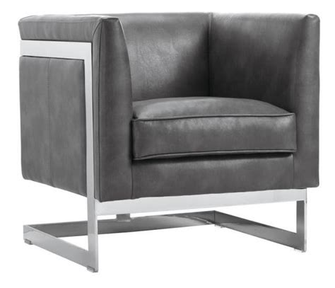 Grey Leather Armchair by Soho Grey Leather Armchair From Sunpan 100111 Coleman