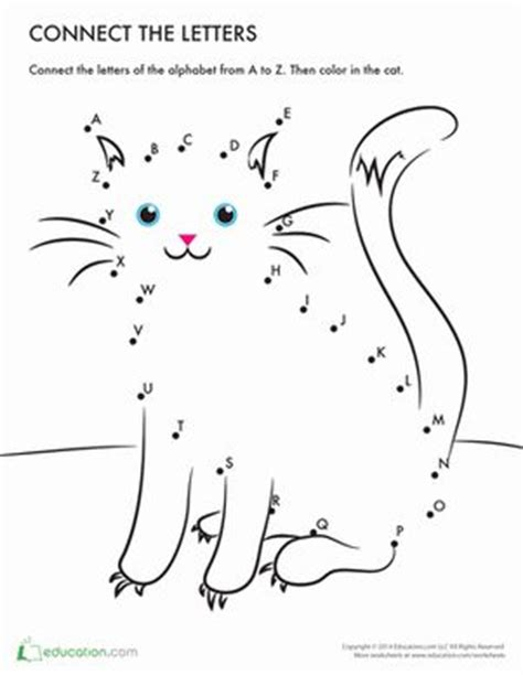 printable dot to dot a z 17 best images about prep kinder pet activities on