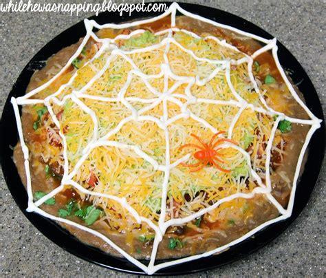 october spooktacular spiderweb nachos    napping