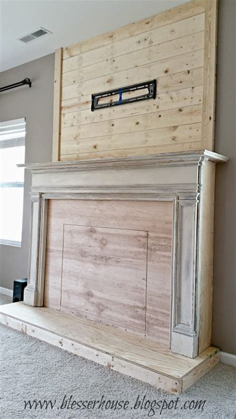 faux fireplace mantel remodelaholic how to build a faux fireplace and mantel