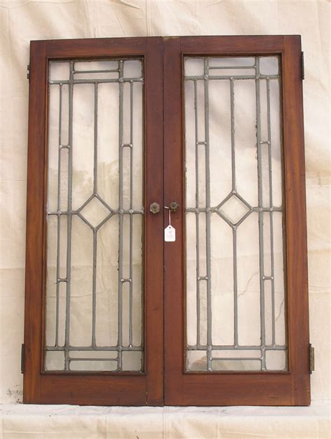 Sold Antique Cabinet Doors Lead Glass Cabinet Doors