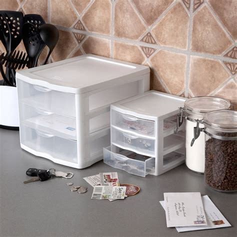 Small 3 Drawer Plastic Storage by Plastic Small 3 Drawer Storage Boxes Set Of 6 Home