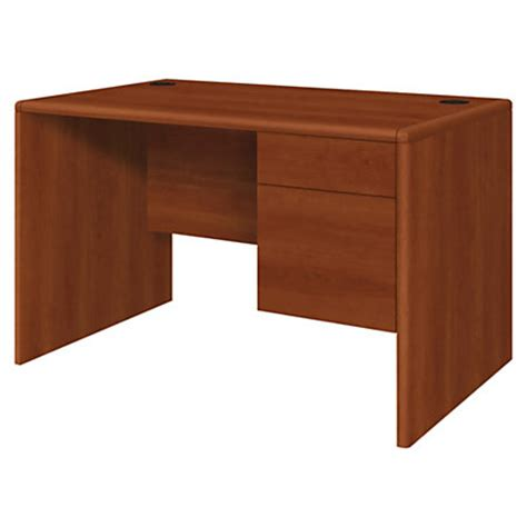 Hon 10700 Series Laminate Small Office Desk Cognac By Office Depot Small Desk