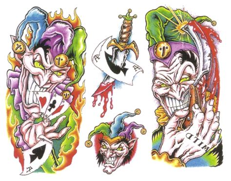 clown tattoo design clown img2 clowns design flash