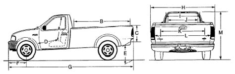 f 150 truck bed dimensions 2002 f150 dimensions frame page