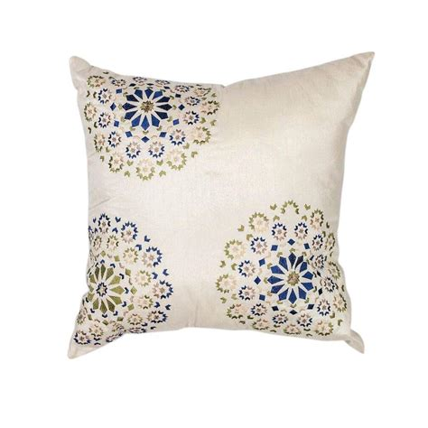 Home Depot Pillows by Kas Rugs Elegance Ivory Blue Decorative Pillow Pill20520sq