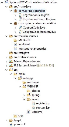 pattern annotation validation spring form custom validation exle onlinetutorialspoint