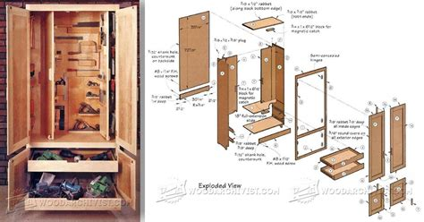 shop cabinet plans woodarchivist