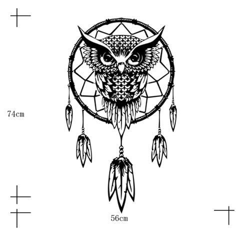 Funlife Wall Stickers funlife indian dream catcher decor wall sticker cute owl