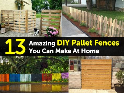 Decorations You Can Make At Home by 13 Amazing Diy Pallet Fences You Can Make At Home