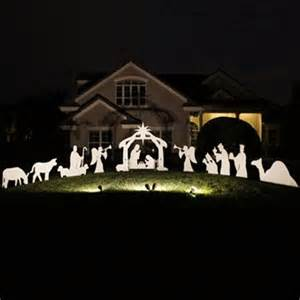 nativity silhouette holy night large complete nativity scene silhouettes by teak isle