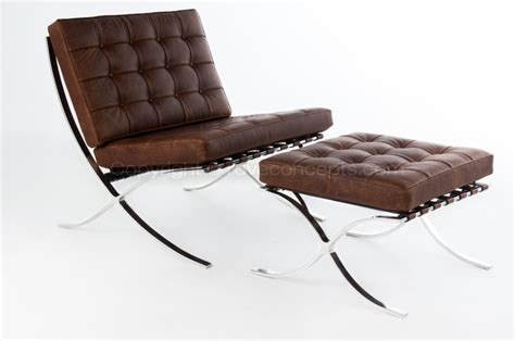 Barcelona Chair And Ottoman Rove Concepts Unveils Custom Selections Of Highly Crafted Barcelona Chair Reproductions