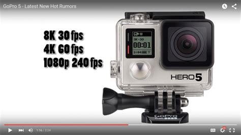 gopro new gopro 5 release date expected 2016 may come with new