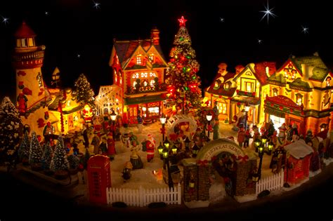 lighted house displays on pinterest christmas villages