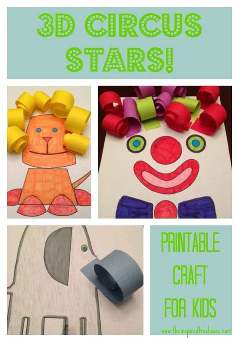 circus crafts for circus printable activities for