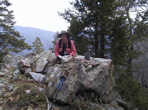 hundred peaks section southern california hiking bohna peak april 30 2002