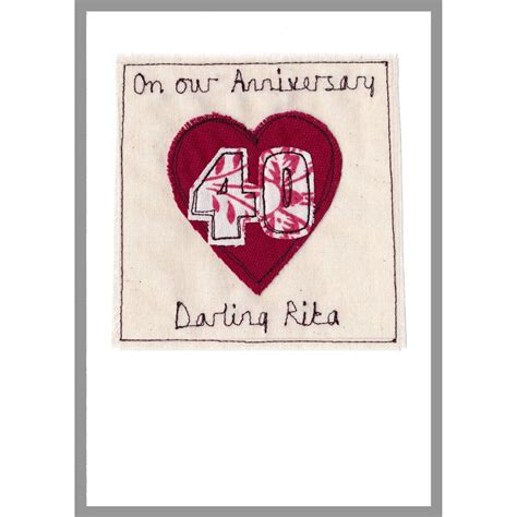 Personalised Wedding Anniversary Cards Uk by Personalised Ruby Wedding Anniversary Card By Milly And
