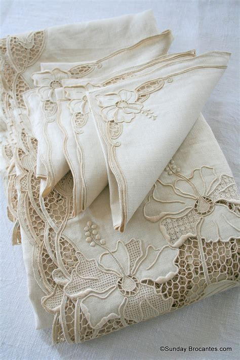13 piece elegant french table linen set