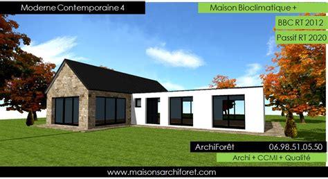 Loft Design By by Plan Et Photo Maison Plain Pied En L Ou Plein Pied En Rez