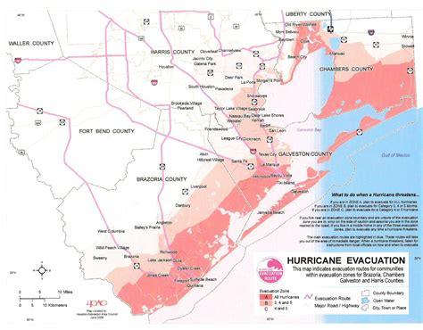 houston evacuation map chambers harris county tx hurricane risk area map
