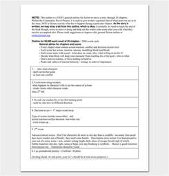 Graphic Novel Template Pdf by Novel Outline Template 11 For Word Excel Pdf Format