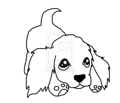 drawing of a puppy artline drawing of puppy clipart best