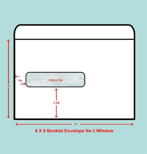 6 X 9 Booklet Window Envelope No 3 Window Quality Envelope 12x9 Envelope Template