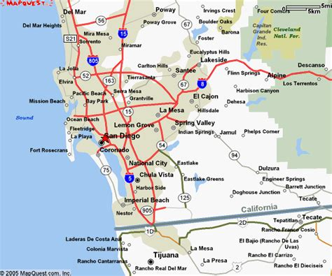 map of san diego ca map of san diego county images