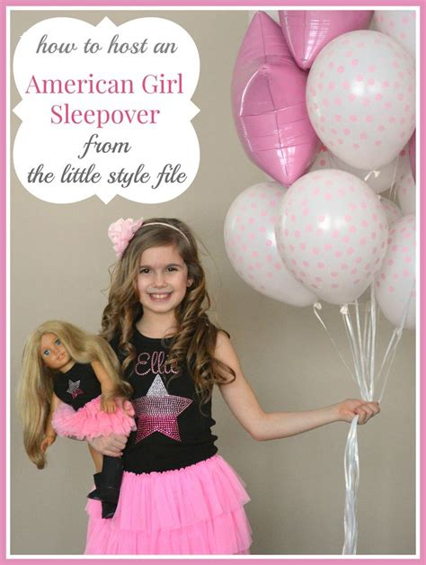 pimp and host doll how to host an american girl sleepover the little style