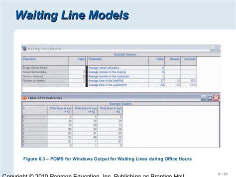 supplement c waiting line models chapter 06