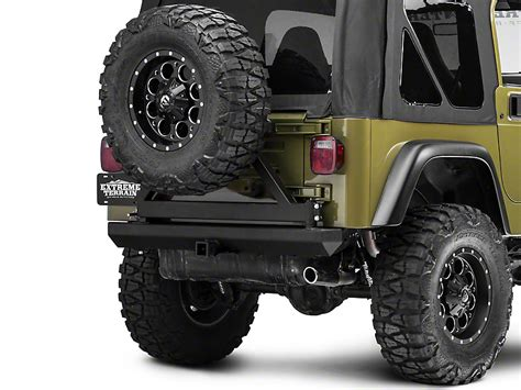 Jeep Wrangler Tire Carrier Redrock 4x4 Wrangler Rock Crawler Rear Bumper W Tire