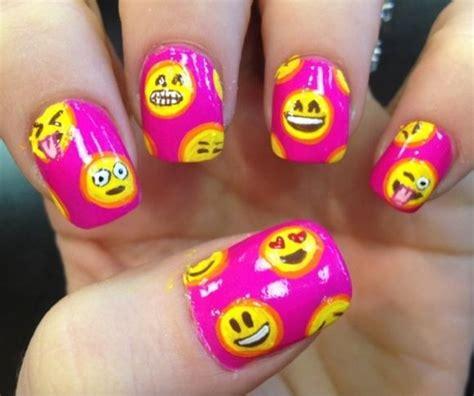 emoji nails 25 emoji nail art designs