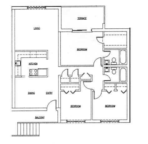 simple three bedroom house architectural designs inspiring 50 three 3 bedroom apartmenthouse plans