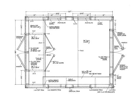shed floor plans shed floor shed plans package