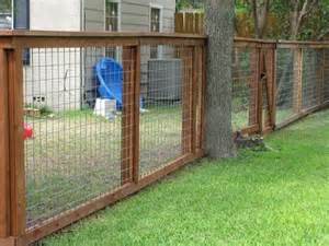 backyard fence for dogs showing construction of wood hog panel fence fencing