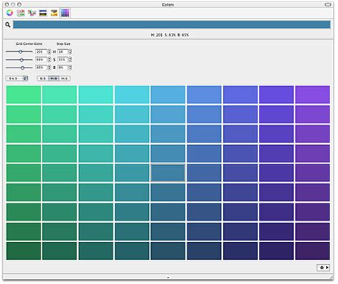 shades of colors shades macintosh color picker