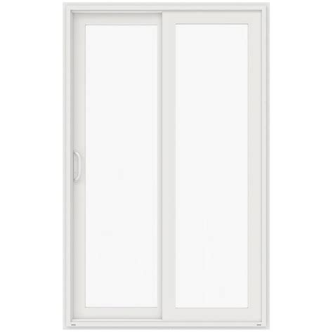 96 Patio Door Jeld Wen 60 In X 96 In V 4500 White Prehung Right Sliding 1 Lite Vinyl Patio Door