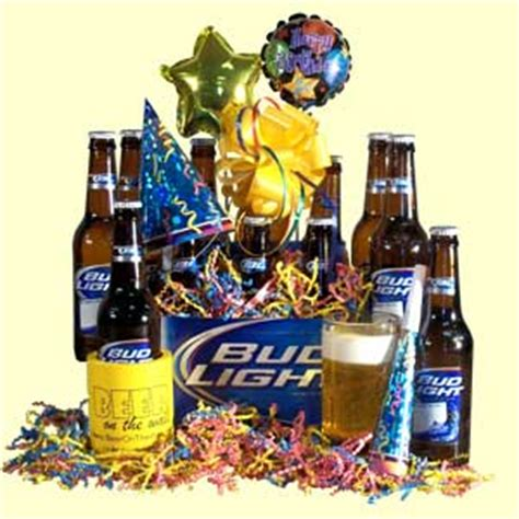 bud light gift basket birthday congratulation gifts cakes balloons baskets and