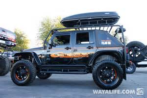 Four Door Jeep Truck 2012 Sema Custom Trucks Black 4 Door Jeep Jk Wrangler