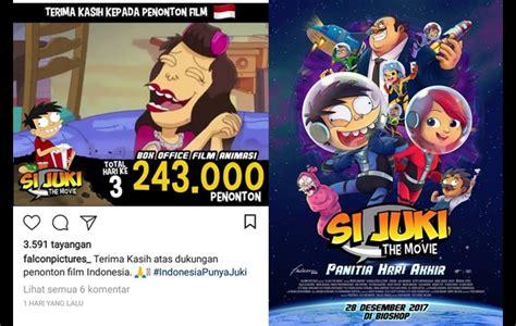 film kartun hari ini dapat respon positif si juki the movie tembus 243 ribu