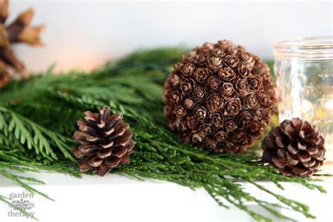 pine cone diy diy decor in minutes pinecone spheres