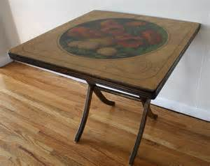 Folding Wood Card Table Antique Vintage Painted Folding Card Table Picked Vintage